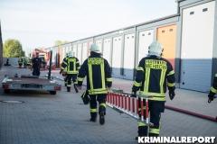 Feuerwehr am Einsatzort.|Foto: DLB