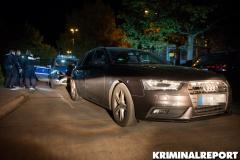 Beamten der Polizei gelang es, den Audi in einer Nebenstraße zu stoppen.|Foto: DLB