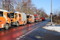 Die Feuerwehr war mit rund 110 Einsatzkräften vor Ort.|Foto: PB