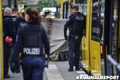 Die Polizei sperrte den Unfallort ab.|Foto: DLB