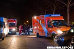 Rettungswagen am Unglücksort.|Foto: CSH