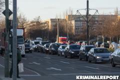 Auf der Riesaer Straße entstand Kilometer langer Stau.|Foto: CSH