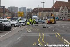 Der Unfallort auf der Grunerstraße in Mitte.|Foto: CSH/ Kriminalreport