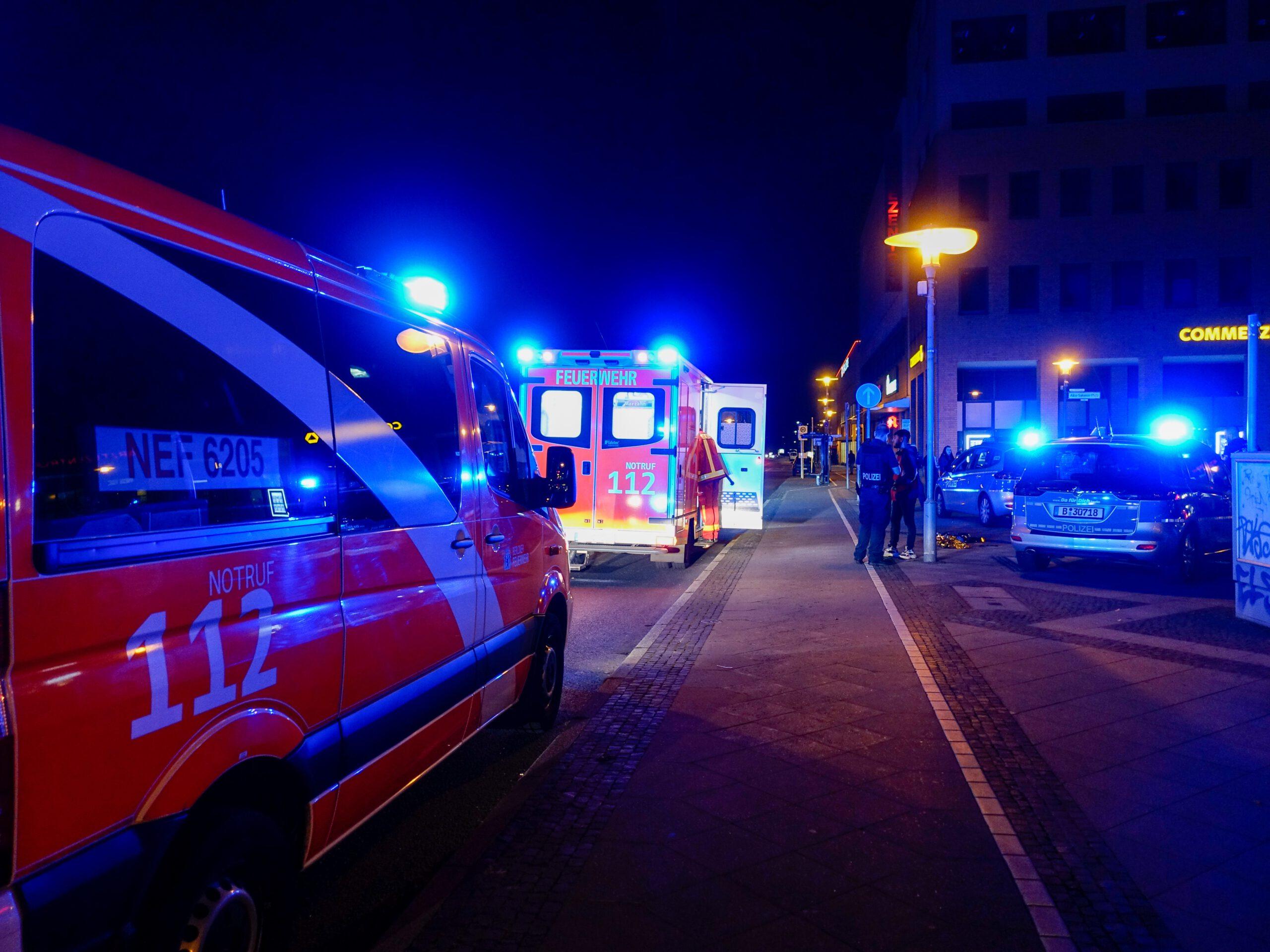 Blutige Auseinandersetzung in Hellersdorf