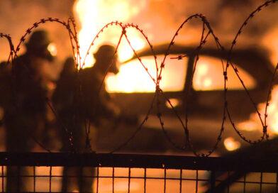 Erneuter Brand auf dem Gelände des Polizeiabschnitts 32