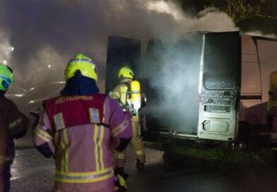 Erneut brannte ein Transporter in Hellersdorf