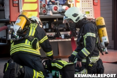 Einsatzkräfte der Freiwilligen Feuerwehr. Foto: DLB