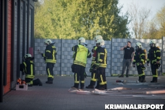 Die Feuerwehr musste die Garage gewaltsam öffnen. Foto: DLB