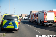 Polizei und Feuerwehr vor Ort. Foto: DLB
