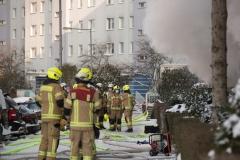 Einsatzkräfte der Berliner Feuerwehr am Einsatzort.|Foto: DLB