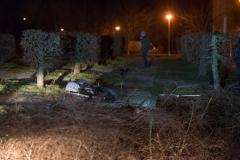 Das Motorrad kam zum liegen, der Täter flüchtete zu Fuß.|Foto: DLB