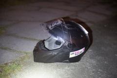 Der Täter ließ seinen Helm zurück.|Foto: DLB