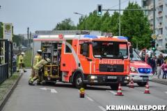 Feuerwehr am Unfallort.|Foto: DLB
