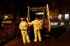 Kriminaltechniker sicherten Spuren in der Wohnung.|Foto: FT