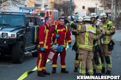 Rettungskräfte betreuten Anwohner.|Foto: CSH