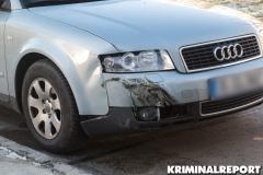 Der Audi wurde stark beschädigt.|Foto: CSH