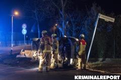 Die Feuerwehr am Unfallort. Foto: CSH
