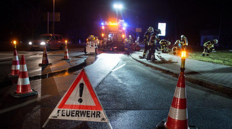Einsatzfahrzeug der Polizei verunfallt auf Einsatzfahrt