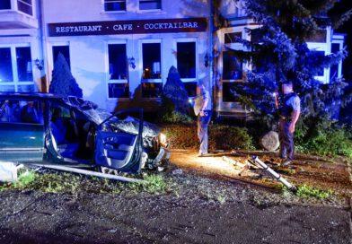 Vier Personen bei Unfall verletzt – Fahrer (29) hatte 1,9 Promille und keine Fahrerlaubnis!